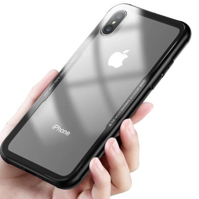 "Чохол скляний (Tempered Glass Case) для iPhone X 10 (5,8"") black"