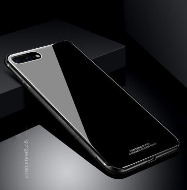 "Скляний чохол (Glass Case) на iPhone 7/8 Plus (5.5"") black"