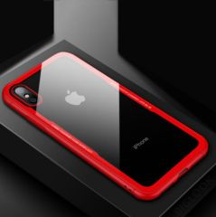 "Чохол скляний (Tempered Glass Case) для iPhone X 10 (5,8"") red"