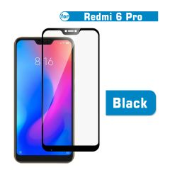 "Захисне скло (переднє) Silk Screen Xiaomi Redmi 6 Pro (5.84"") front / black"