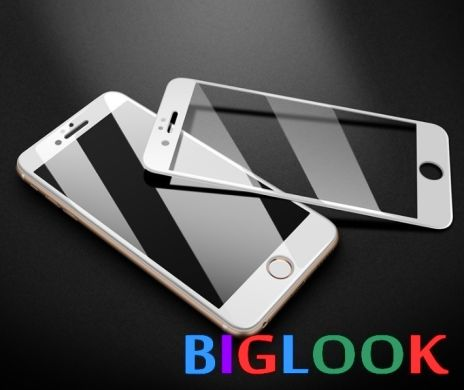 "Захисне скло 6D (переднє) Full Screen Tempered Glass для iPhone 8 Plus (5.5"") front / white"
