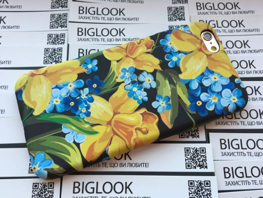 "Чохол силіконовий STAR Case для iPhone 6/6S (4.7"") Blue & Narcissus"